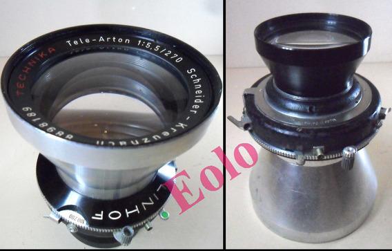 Lente Tele Arton 270mm 5,5 Schneider Compur Grande Formato &