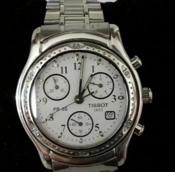 Relógio Tissot Maquina Suíça Com Vidro De Safira Cronômetro
