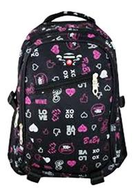 Mochila Feminina Notebook Impermeável Escola Chuva Love 2101