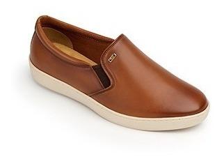Calzado Dama Mujer Zapato Casual Flat Flexi Piel Cafe Comodo