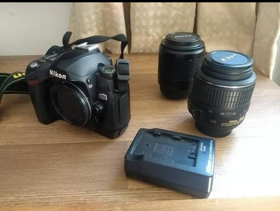 Câmera Nikon D70, Completa Duas Lentes E Bolsa
