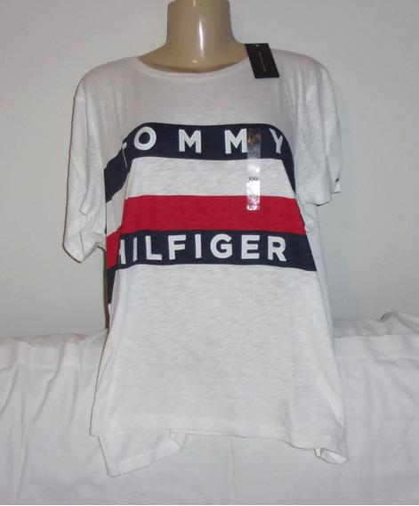 Camisetas Femininas Tommy Hilfiger Xgg Originais Etiqueta