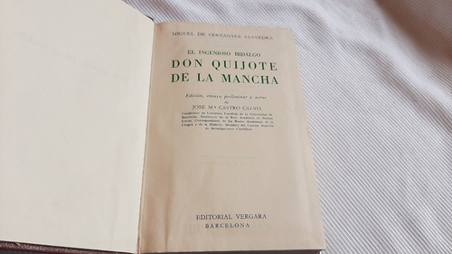 Don Quijote De La Mancha Miguel Cervantes Saavedra Vergara