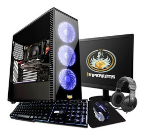Pc Completo Gamer Monitor 19.5 Led Hdmi Wifi 8gb + 30 Jogos!