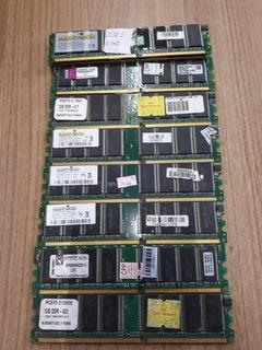 Memória Ddr1 1gb Desktop Varias Marcas E Modelos Lote Com 10