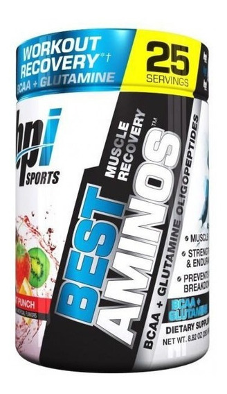 Aminoácidos Bpi Best Amino Fruit Punch 250 G (25 Srvs)
