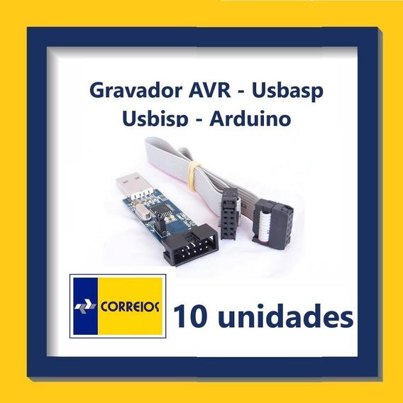 Gravador Avr - Com Cabo Adaptador Isp - Kit Com 10 Unidades