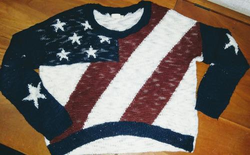 Sweater Lana Acrílica Y Algodón Mujer Importado