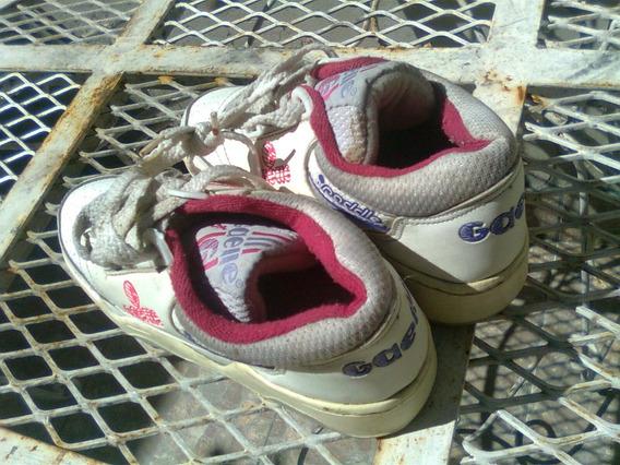 Zapatillas Dama Paddle Gaelle Legitimas Talle 34 Blanca/rojo