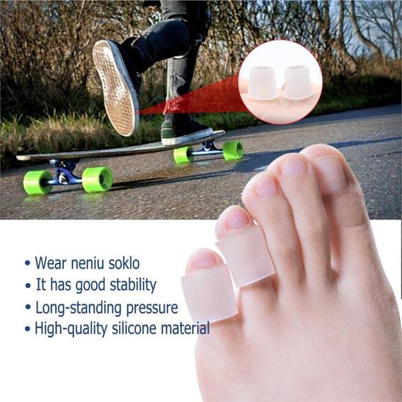 1 Par Separador Protetor Dedos Pés Dedos Silicone A