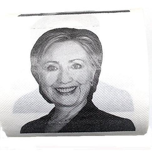 Imagen 1 de 3 de Papel Higiénico Hillary Clinton, Regalo De Mordaza Política