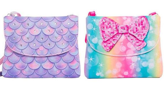 Bolsas Infantis Princesa Pink Kit 2 Bolsas Carteira - Tamanho Único