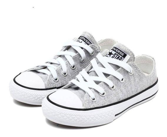 Converse All Star Infantil Cinza Aço Unissex - Ck0535