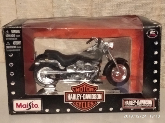 Moto Harley-davison Flstf Fat Boy Escala 1:18 40usd