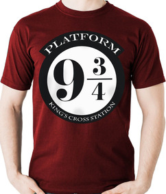 Camiseta Plataforma 9 3/4 Harry Potter Geek Camisa Blusa