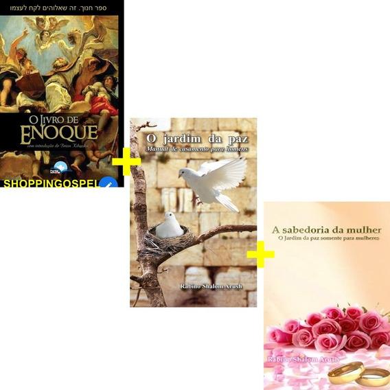 O Jardim Da Paz + A Sabedoria Da Mulher + O Livro De Enoque