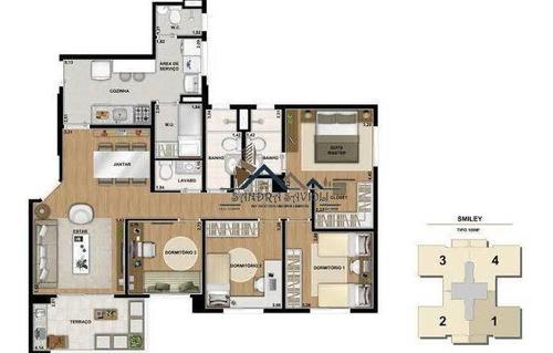 Apartamento Com 3 Dormitórios (4° Reversível) Pertinho Do Rodoanel! - 473