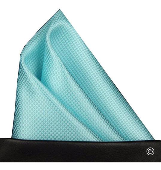 Pañuelo De Bolsillo Para Traje Hombre Grin Accs Azul Menta