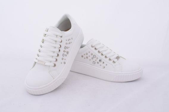 Zapatillas Mujer Blanca / Negro Savage Urbanas 35 Al 40