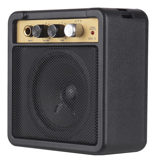 Mini Amplificador De Guitarra Amp Speaker 5 W Com Entrada De