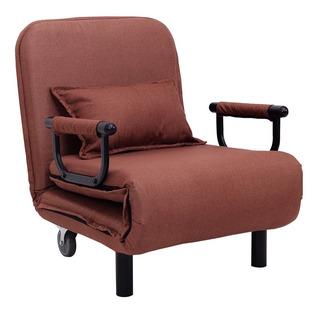 Convertible Sofa Cama Plegable Brazo Silla Cama Ocio Chocola