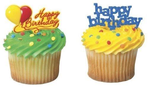 Imagen 1 de 3 de Feliz Cumpleaños Cupcake Picks 24pack