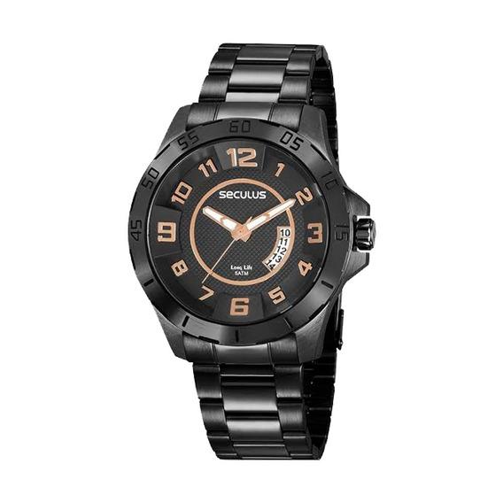 Relógio Masculino Seculus Preto