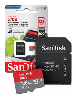 Cartão Micro Sd 128gb Ultra Lacrado Original Smartphone