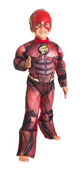 Disfraz Flash Lujo Con Mascara Warner Original Fantasy Ruz
