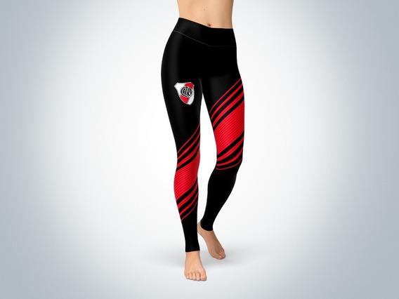 Pantalon Calza Dama Ztc-0329b-river Plate 2 (blanca O Negra)