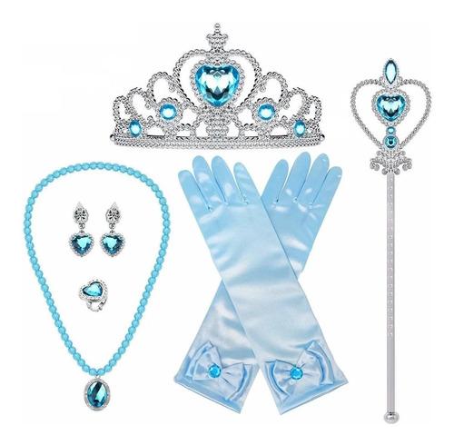 Princesa Vestir Elsa Accesorios Set, Juego De Disfraces De F