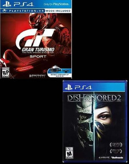 Combo Juegos Gran Turismo Sport + Dishonored 2 Ps4