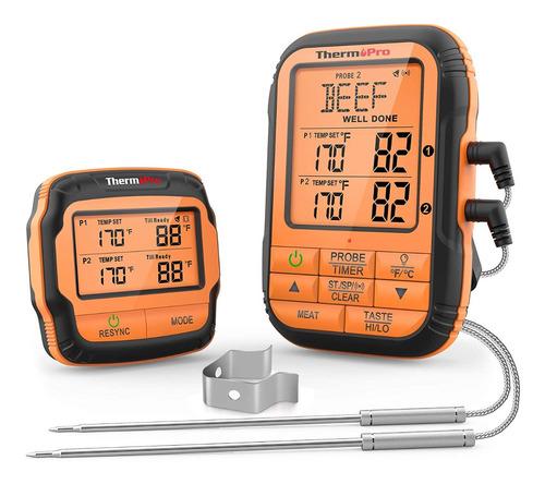 Imagen 1 de 9 de Termometro Inalambrico Thermopro Tp-28 2 Sondas Cocina Carne