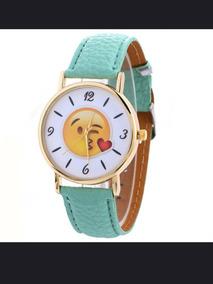 Relógio Feminino Pulseira De Couro Verde