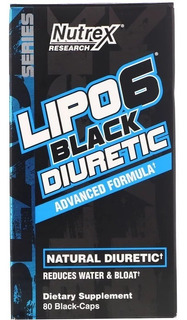 Lipo 6 Black Diuretic 80 Black Capsulas Nutrex Research