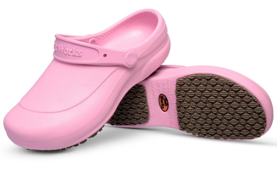 Sapato Soft Works Bb60 Enfermagem Babuche Antiderapante Rosa