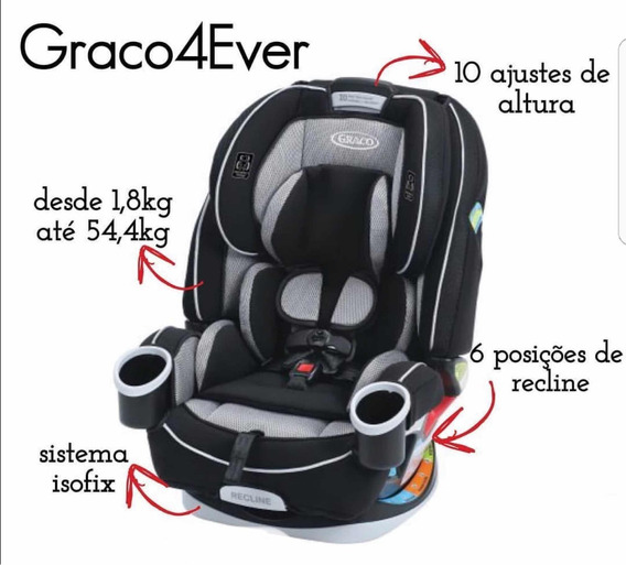 Graco4ever All In Com Isofix 12x Sem Juros