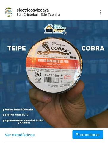 Teipe Cobra 3/4 Marca Fermetal De 18 Metros Original