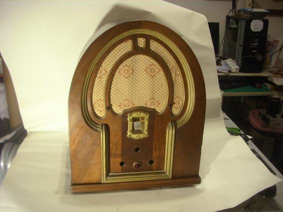 Antiguo Y Excelente Gabinete Madera Radio Capilla Original