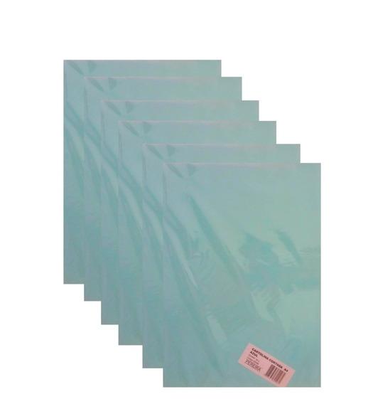 Kit 10 Pcts Cartolina Cortada A4 Azul 500 Folhas -pereira