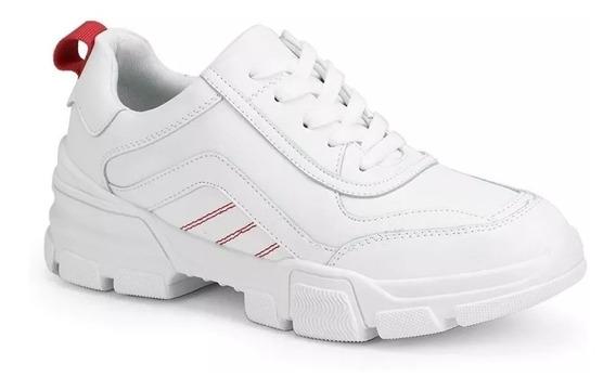 Tenis Feminino Facinelli Conforto Branco E Rosa Cd 641