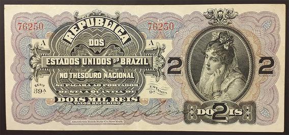 R-082 2 Mil Réis 1899 Mbc/sob Série: 39