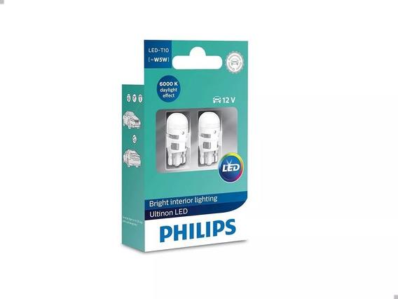 Lâmpada Philips Pingão Led Vision 6000k T10 Super Branca