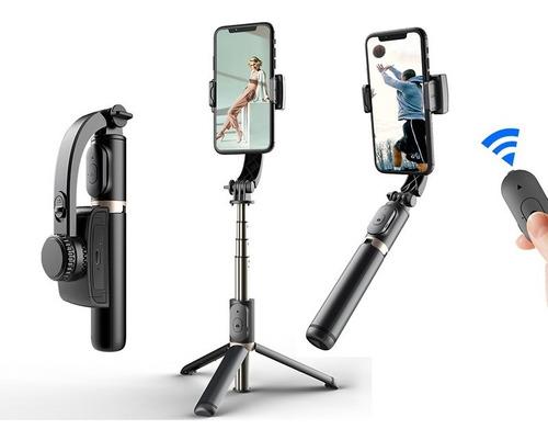 Imagen 1 de 7 de Gimball Estabilizador + Tripode Celular Selfie Bluetooth Q08