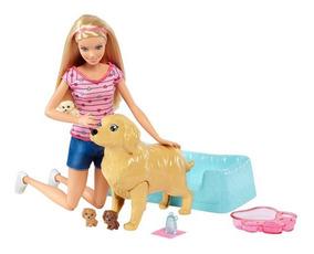 Boneca Barbie Family - Loira - Filhotinhos Recém-nascidos -