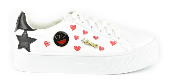 Tenis Urbanos Para Mujer Lob Footwear 656-9909 Blanco Nuevo Oi19