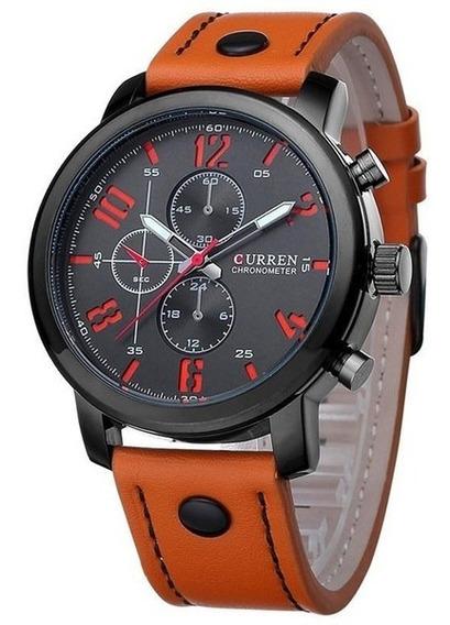 Reloj Hombre Curren 8192 Correa Cuero Deportivo 100%original