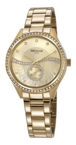 Relógio Seculus Feminino Dourado 20612lpsvds1