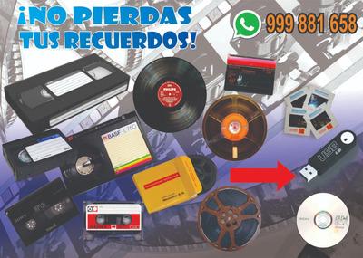 Conversiones De Video Y Audio (vhs,betamax,super 8,mp4,dvd)