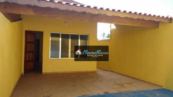 Casa Com 2 Dormitórios Para Alugar, 65 M² Por R$ 650,00/mês - Cidade Balneária Nova Peruibe - Peruíbe/sp - Ca1301